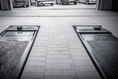 Станция обслуживания автомобиля стоковое изображение