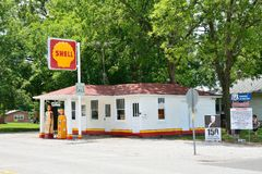 Станция обслуживания Soulsby в Mount Olive, Иллинойсе стоковое фото