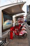 Станция общественного велосипеда арендная в Китае Стоковые Фотографии RF