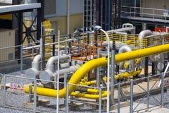 Станция окончательного фильтра природного газа Стоковое фото RF