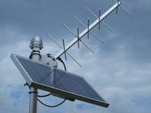 Станция отчетности спутниковой передачи Стоковое Изображение RF