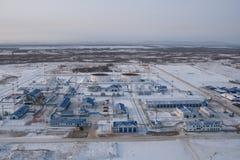 Станция пересадки на нефтепроводе Стоковые Фотографии RF