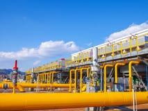 Станция перехода газа Стоковое Изображение RF