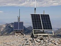 Станция погоды пустыни пиковая солнечная Стоковые Фотографии RF