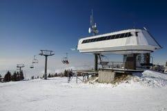 Станция подъема лыжи Стоковое Фото