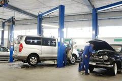 Станция ремонта автомобиля Стоковая Фотография RF