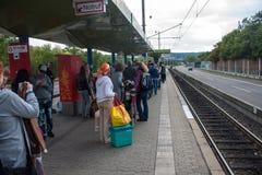 Станция рельса города Стоковое Изображение