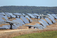 станция силы солнечная Стоковое Фото
