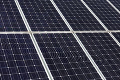 станция силы детали солнечная Стоковая Фотография RF