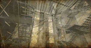 Станция. Современный промышленный интерьер, лестницы, чистый космос в indu Стоковые Фотографии RF