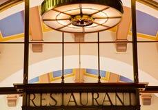 Станция соединения Лос-Анджелеса знака ресторана стиля Арт Деко Стоковое Изображение