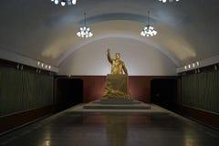 Станция станции Kaeson, метро Пхеньяна Стоковое Фото