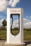 Станция суперчаржера Tesla Стоковое Изображение RF