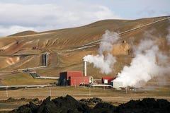 Станция тепловой мощности Geo Стоковое Изображение
