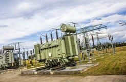 Станция трансформатора Стоковое фото RF