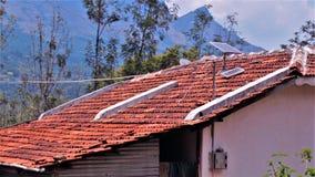 Станция холма солнечной энергии сельская индийская Стоковые Фотографии RF
