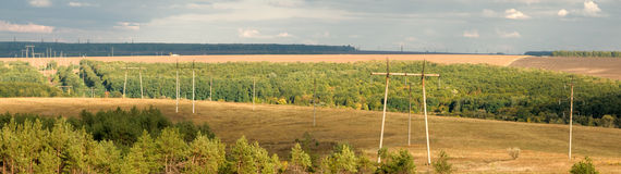 станция электрического поля Стоковое Изображение RF