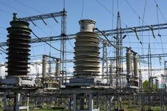 станция электричества Стоковое фото RF