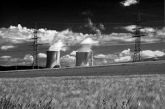 станция электричества Стоковые Фотографии RF