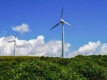 Станция энергии ветра в острове Yonaguni Стоковое Изображение RF