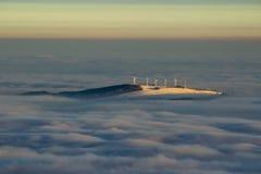 Станция энергии ветра, насмеханная, чехия Стоковая Фотография RF