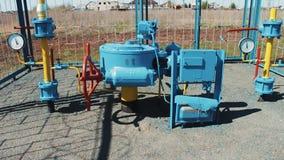 Станция для нагнетать и очищения природного газа Трубопровод с манометром Насосная установка Красный задерживающий клапан акции видеоматериалы