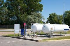 Станция Autogas автомобиля стоковые фото