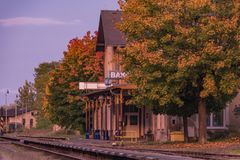 Станция Bakov nad Jizerou в центральной Богемии Стоковая Фотография RF