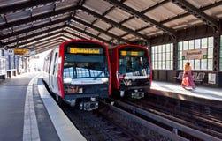 Станция Baumwall U-Bahn в Гамбурге, Германии Стоковые Изображения RF