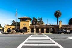 Станция Burlingame Caltrain, Калифорния стоковое изображение
