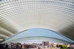 Станция Guillemins в Liege, Бельгии Стоковая Фотография RF