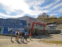 станция kitzsteinhorn ледника кабел-крана Стоковая Фотография