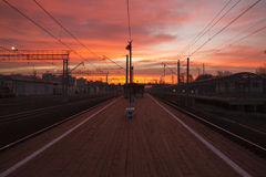 Станция Kuskovo на зоре Стоковое Фото