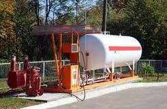 Станция LPG для заполняя сжиженного газа в танки корабля стоковая фотография rf