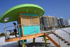 станция miami личной охраны пляжа Стоковые Фотографии RF
