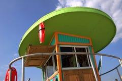станция miami личной охраны пляжа Стоковая Фотография