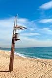 станция montgat пляжа barcelona помощи Стоковые Изображения