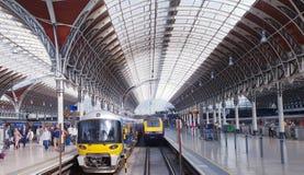 Станция Paddington, Лондон, Англия Стоковое фото RF
