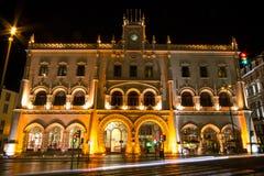 Станция Rossio, Лиссабон, Португалия Стоковое Фото