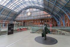 Станция St Pancras международная в Лондоне стоковые изображения rf