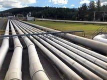 Станция Taupo Новая Зеландия геотермальной энергии Wairakei Стоковое Фото