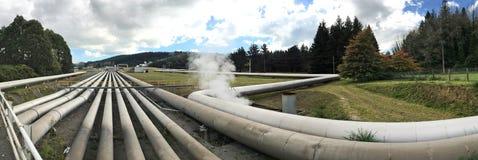 Станция Taupo Новая Зеландия геотермальной энергии Wairakei Стоковые Изображения