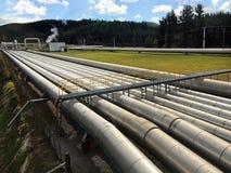 Станция Taupo Новая Зеландия геотермальной энергии Wairakei Стоковое Изображение RF