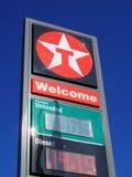 станция texaco знака нефти Стоковые Изображения