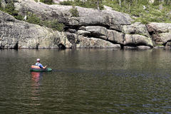 станы озера рыболова Стоковые Изображения