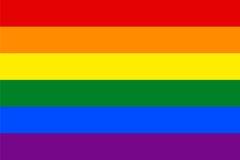 Стандартные пропорции для флага гомосексуалиста Стоковое Изображение