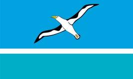 Стандартные пропорции для флага на полпути атолла неслужебного Стоковое Изображение RF