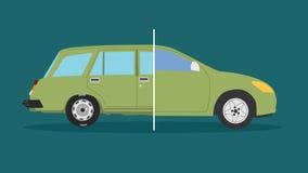 старая автомобиля новая Стоковое Фото