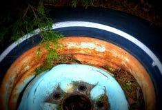 старая автошина Стоковые Изображения
