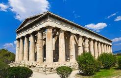 Старая агора на Афинах, Греции Стоковая Фотография RF